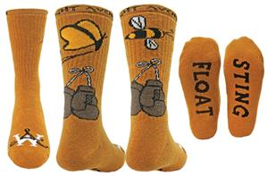 Wright Avenue Float Sting Novelty Cotton Crew Sock