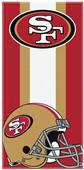 Northwest NFL 49ers Zone Read Beach Towel