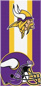 Northwest NFL Vikings Zone Read Beach Towel