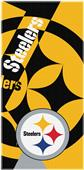 Northwest NFL Steelers Puzzle Oversize Beach Towel