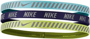 NIKE Printed Hazard Strip Headbands (assorted 3pk)