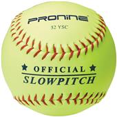 "Pro Nine ASA Yellow 12"" 52 COR Slowpitch Softball"