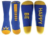 Wright Avenue Be Happy Novelty Cotton Crew Sock