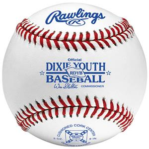 Rawling Youth RDYB Dixie League Baseballs
