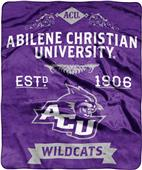 NCAA Abilene Christian Label Raschel Throw