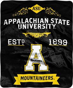 NCAA Appalachian State Label Raschel Throw