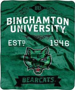 NCAA Binghamton Label Raschel Throw