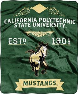 NCAA Cal Polytechnic State Label Raschel Throw