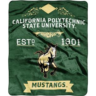 NCAA Cal Polytechnic State Label Raschel Throw