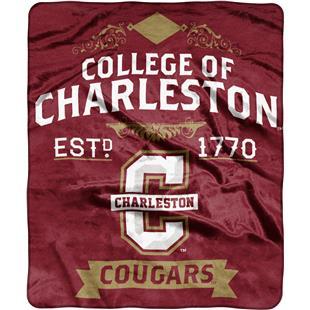 NCAA Charleston College Label Raschel Throw