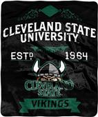 NCAA Cleveland State Label Raschel Throw