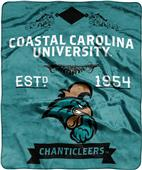 NCAA Coastal Carolina Label Raschel Throw