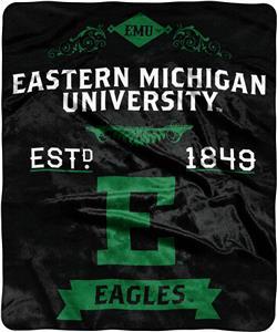 NCAA Eastern Michigan Label Raschel Throw