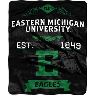 NCAA Eastern Michigan Label Raschel Throw