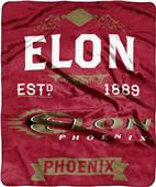 NCAA Elon Label Raschel Throw