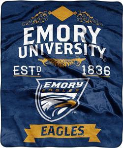 NCAA Emory Label Raschel Throw