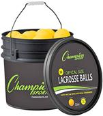 Champion Sports Lacrosse 36 Ball & Bucket Combo