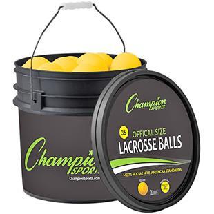 Champion Sports Lacrosse 36 Ball & Bucket Combo