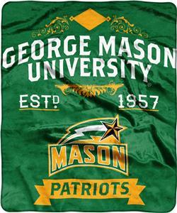 NCAA George Mason Label Raschel Throw