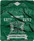 NCAA Hawaii Label Raschel Throw