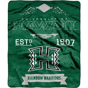 NCAA Hawaii Label Raschel Throw