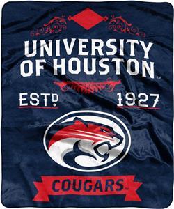 NCAA Houston Label Raschel Throw