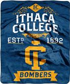 NCAA Ithaca College Label Raschel Throw