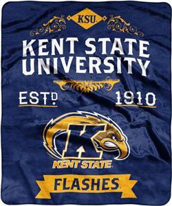 NCAA Kent State Label Raschel Throw