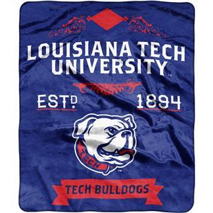 NCAA Louisiana Tech Label Raschel Throw