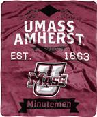 NCAA Massachusetts Label Raschel Throw