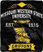 NCAA Missouri Western State Label Raschel Throw
