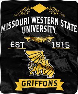 NCAA Missouri Western State Label Raschel Throw