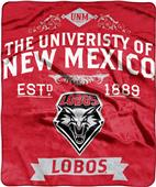 NCAA University New Mexico Label Raschel Throw
