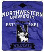 NCAA Northwestern University Label Raschel Throw