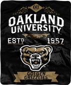 NCAA Oakland University Label Raschel Throw