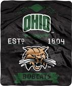 NCAA Ohio University Label Raschel Throw