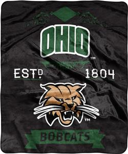 NCAA Ohio University Label Raschel Throw