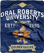 NCAA Oral Roberts Label Raschel Throw