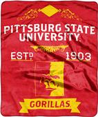 NCAA Pittsburgh State Label Raschel Throw