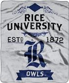NCAA Rice University Label Raschel Throw
