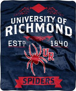 NCAA University Richmond Label Raschel Throw