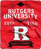 NCAA Rutgers Univ Label Raschel Throw