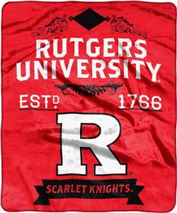 NCAA Rutgers Univ Label Raschel Throw