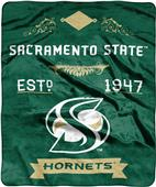 NCAA Sacramento State Label Raschel Throw