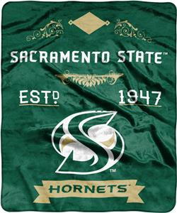 NCAA Sacramento State Label Raschel Throw
