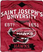NCAA Saint Josephs Univ Label Raschel Throw