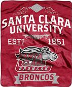 NCAA Santa Clara Univ Label Raschel Throw