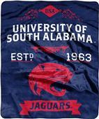 NCAA South Alabama Univ Label Raschel Throw