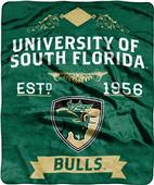 NCAA South Florida Bulls Label Raschel Throw
