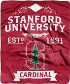 NCAA Stanford Univ Label Raschel Throw